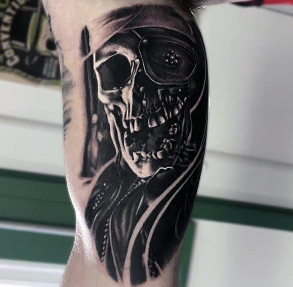 3d Skull The Goonies Arm Tattoo