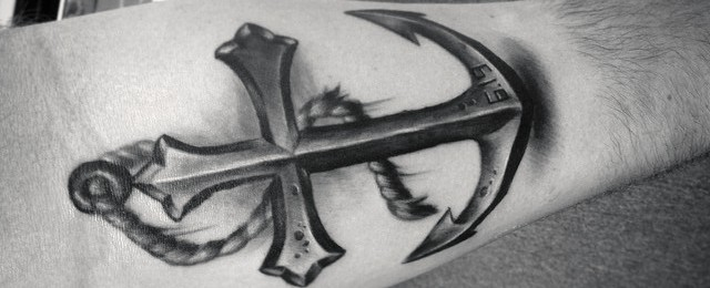 Anchor Cross Tattoo Designs For Men