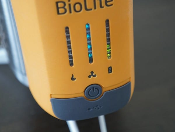 Biolite Campstove 2 Stove Fan Speed And Battery Level