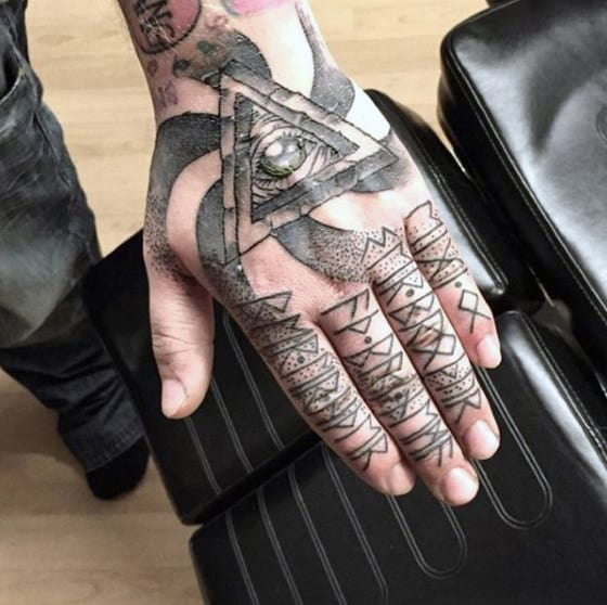 Finger Tattoo Modern Ideas For Men