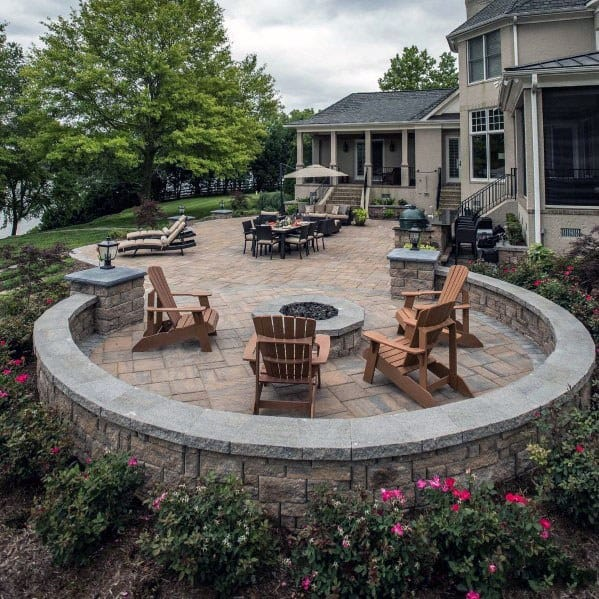Fire Pit Designs For Circle Paver Patio