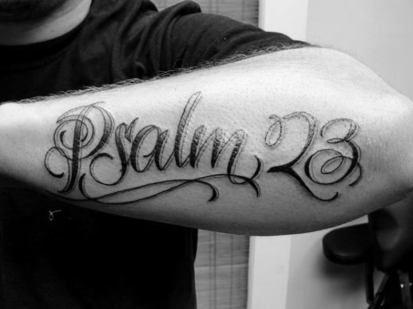 40 psalm 23 tattoo designs for men bible verse ink ideas