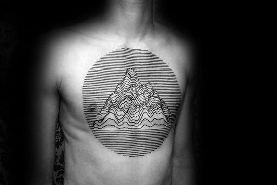 Geometric Mountain Tattoo Ideas On Guys
