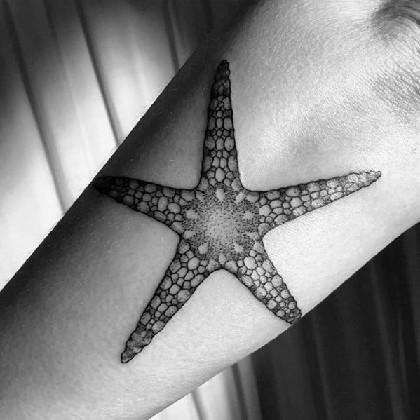 Guy With Starfish Tattoo Design On Arm