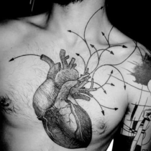 Heart Tattoos For Men