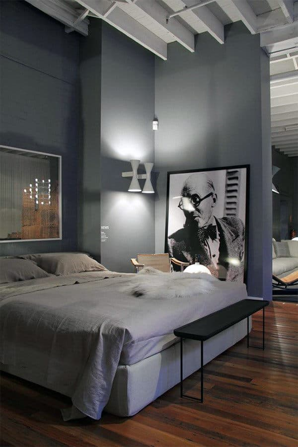 60 men 39 s bedroom ideas masculine interior design inspiration - Deco de chambre parentale ...