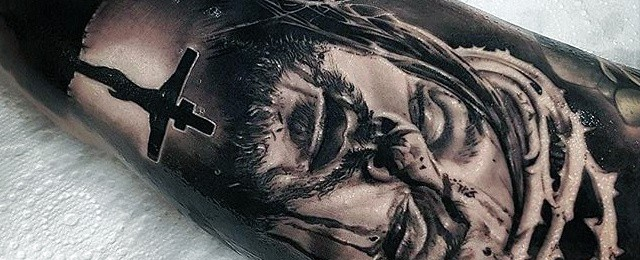 Jesus Arm Tattoo Designs For Men