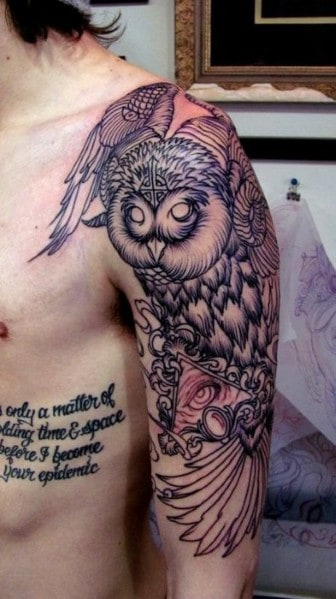 Men's Owl Tattoos
