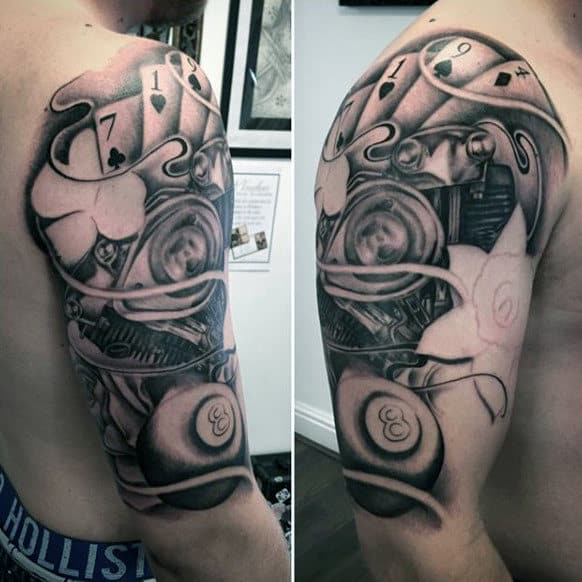 casino half sleeve tattoo
