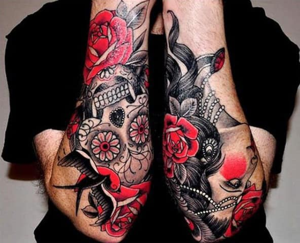 Men's Sleeve Tattoo Design