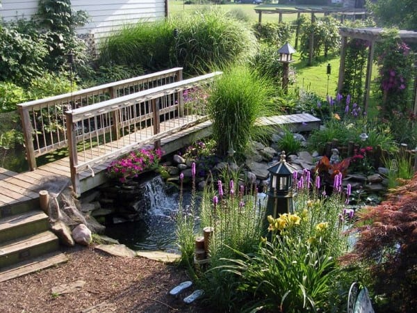 Top 50 best backyard pond ideas outdoor water feature for Koi pond landscaping ideas