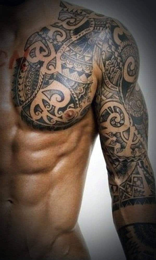 top 60 best tribal tattoos for men symbols of courage. Black Bedroom Furniture Sets. Home Design Ideas