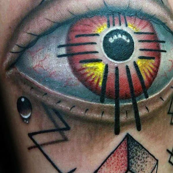 Zia Guys Tattoo Ideas With Eye Design On Arm