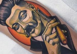 Barber Men's Tattoo Ideas