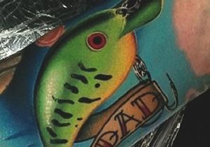 Fish Hook Men's Tattoo Designs