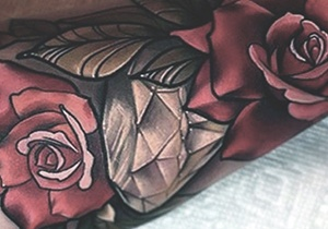 Guy's Diamond Tattoo Designs
