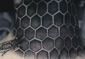 Honeycomb Gentlemen's Tattoo Ideas