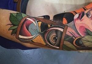 Hourglass Men's Tattoo Ideas