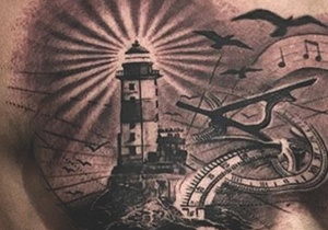 lighthouse tattoo design ideas for men - Tattoo Idea Designs