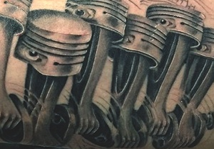 Piston Tattoo Design Ideas For Men