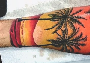 Sunset Tattoos Ideas For Males