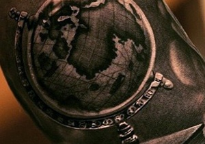 World Map Tattoo Design Ideas For Men
