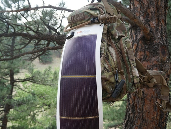 10 Watt Backpack Mounted Hiking Solar Panel Sunsoaker