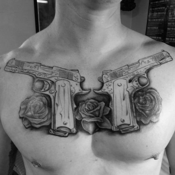 45 Intriguing Chest Tattoos For Men: 50 1911 Tattoo Ideas For Men