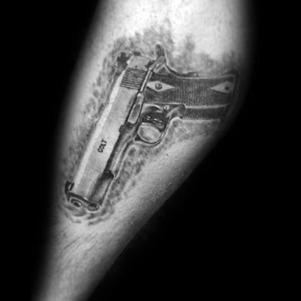 50 Uzi Tattoo Ideas For Men – Firearm Designs