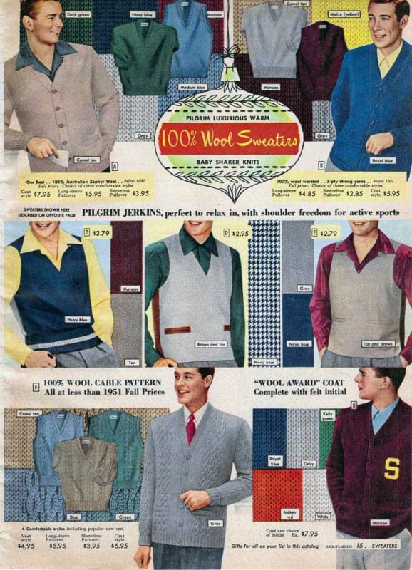 1950s Casual Mens Vintage Shopping Catalog