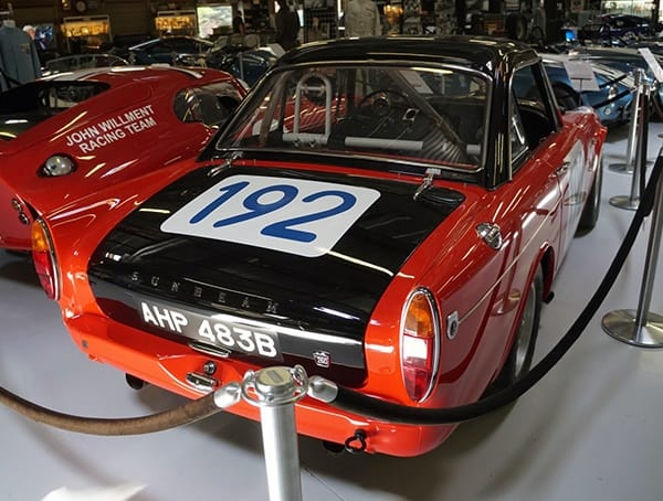 1964 Rootes Works Rally Sunbeam Tiger Rear