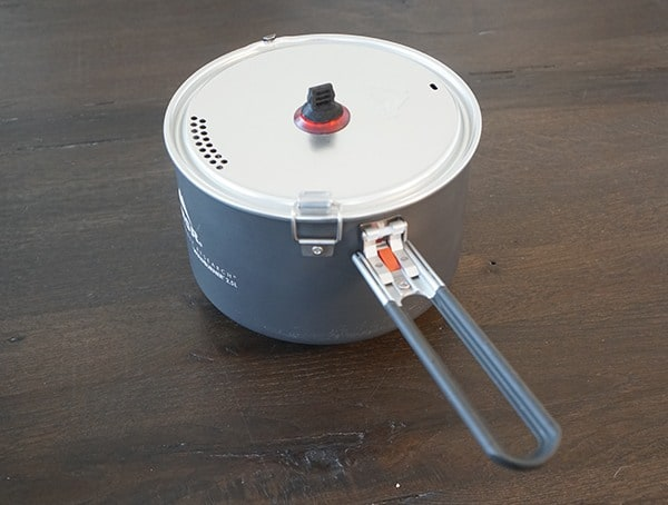 2 5 Liter Ceramic Coated Aluminum Coated Nonstick Pot Msr Windburner Stove