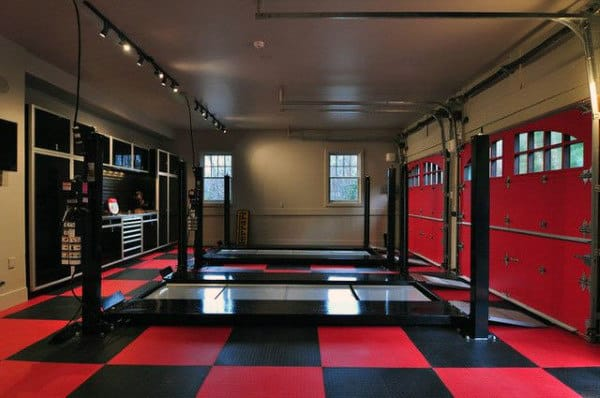 Car Garage 50 man cave garage ideas - modern to industrial designs