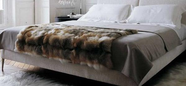 Amber Fox Faux Fur Throw