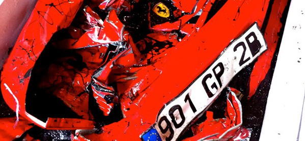 Crashed Ferrari Living Room Table