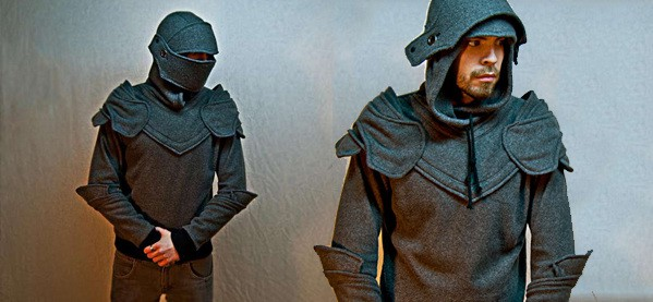 Hoodie Knight Armor Pullover