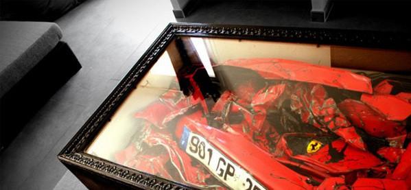 Wrecked Ferrari Coffee Table