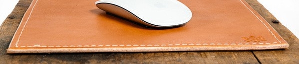 Hand Crafted Bexar Goods Leather Mouse Pad