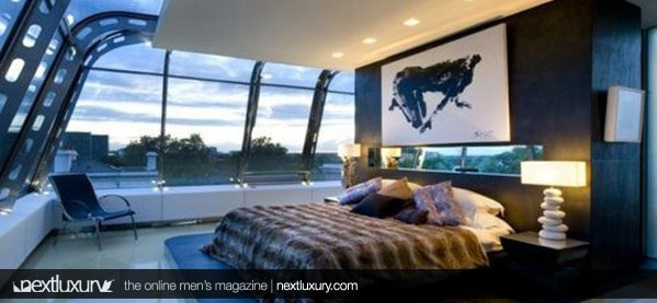 luxury mens bedroom