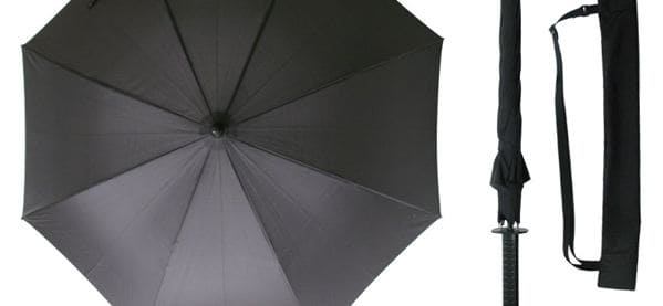 Kikkerland Samurai Sword Umbrella