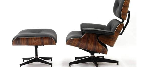 Lexmod Classic Plywood And Leather Lounge Chair Next Luxury