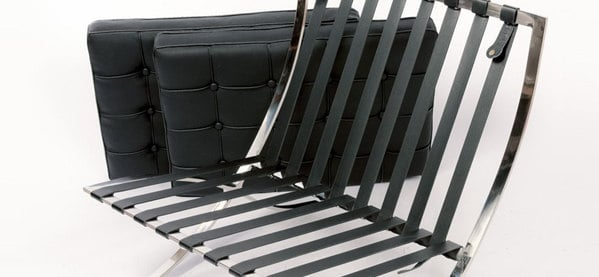 Pleasant Modern Pavilion Black Leather Barcelona Accent Chair Next Alphanode Cool Chair Designs And Ideas Alphanodeonline