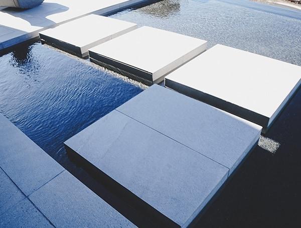 2019 New American Home Pool Water Walkway