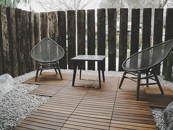 2019 New American Remodel Home Outdoor Patio With Wood Floor