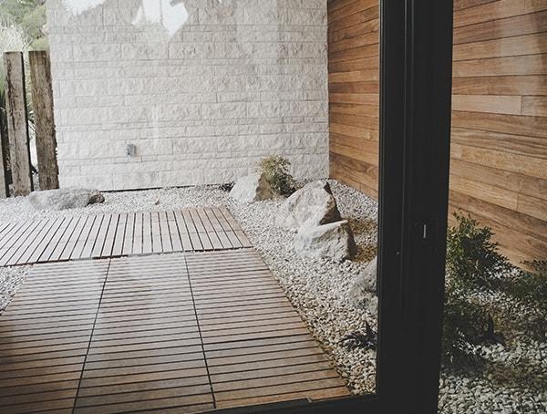 2019 New American Remodel Home Wood Plank Walkway