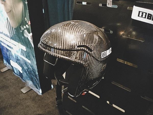 2019 Outdoor Retailer Snow Show Blitz Carbon Fiber Ski Racing Helmet