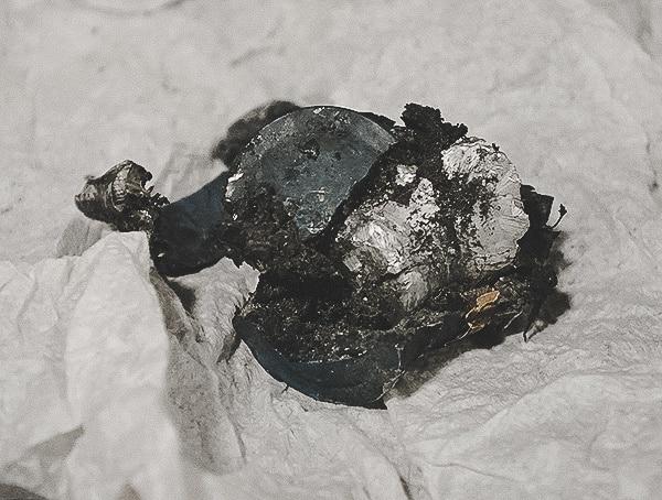 20mm Bullet Shell After Firing At Block