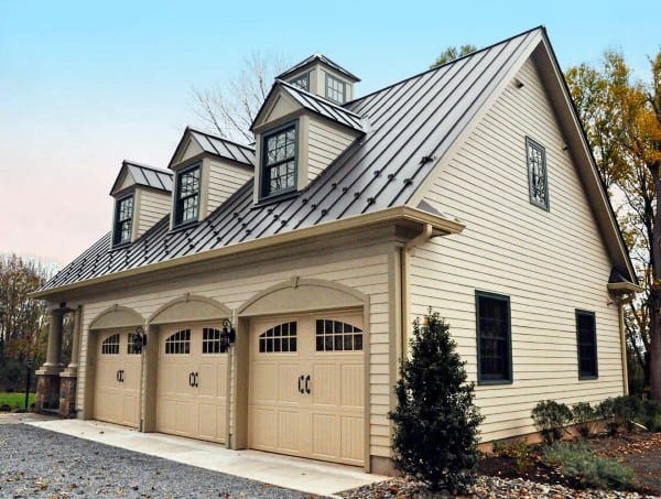 3 Car Detached Garage Ideas With Metal Roof