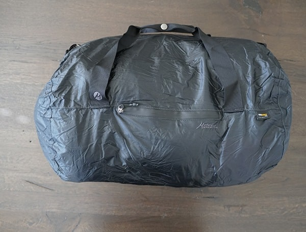 30 Liter Matador Transit 30 Duffle Bag Top Side View