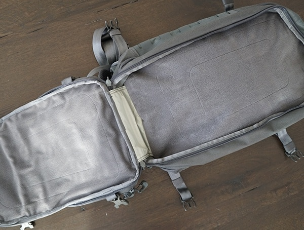 30l Ccw Enabled Backpack Maxpedition Riftblade First Compartment Open
